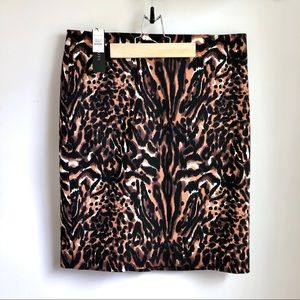Talbots animal print pencil skirt NWT